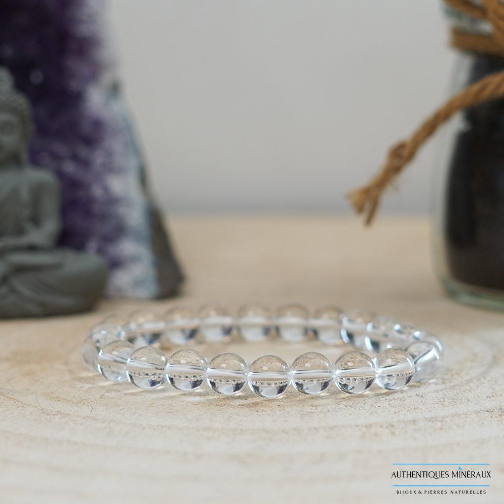 Bracelet cristal de roche 8mm -