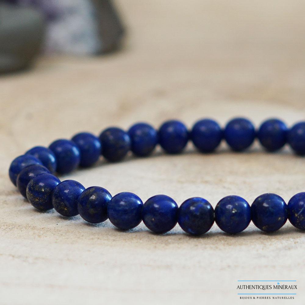 Bracelet lapis lazuli 6mm