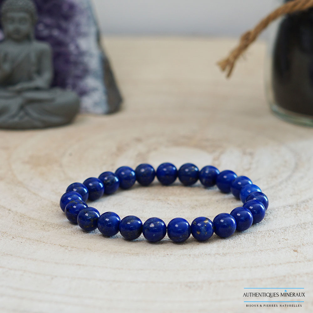 Bracelet lapis lazuli 8mm -