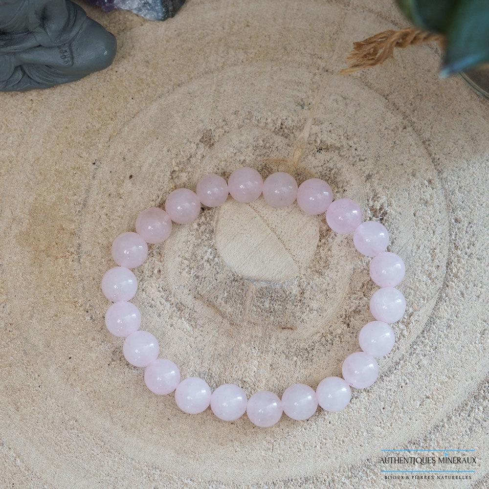 Bracelet quartz rose 8mm