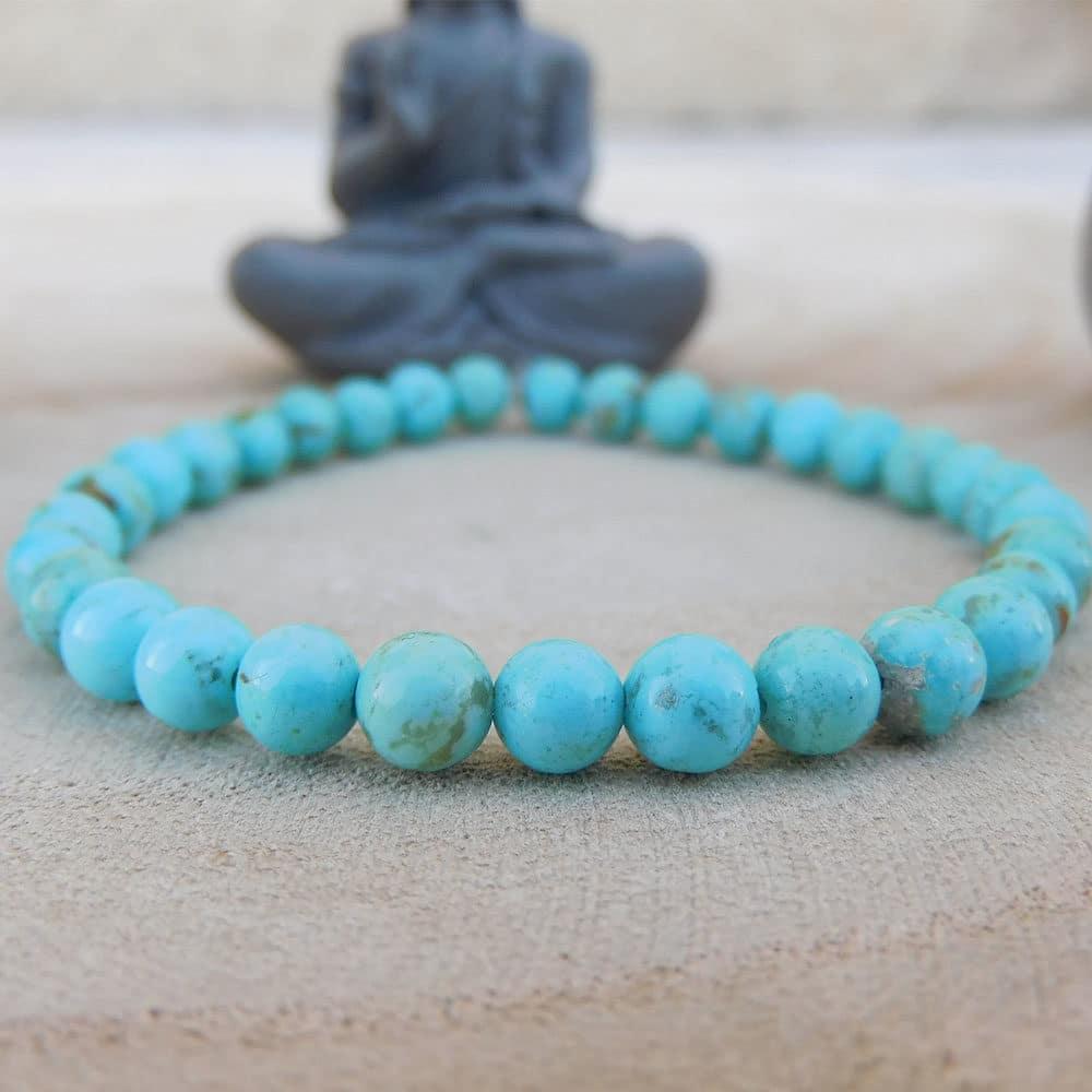 Bracelet turquoise 6mm face