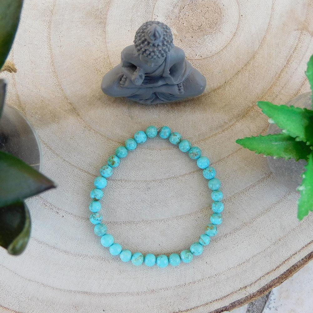 Bracelet turquoise 6mm haut
