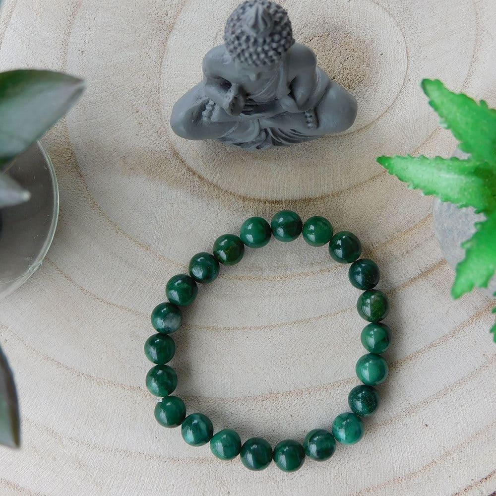 Bracelet Jade vert 8mm