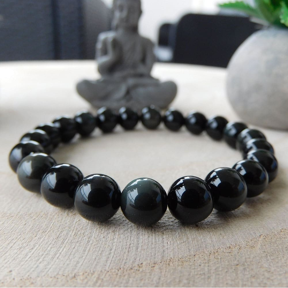 Bracelet Obsidienne 8mm