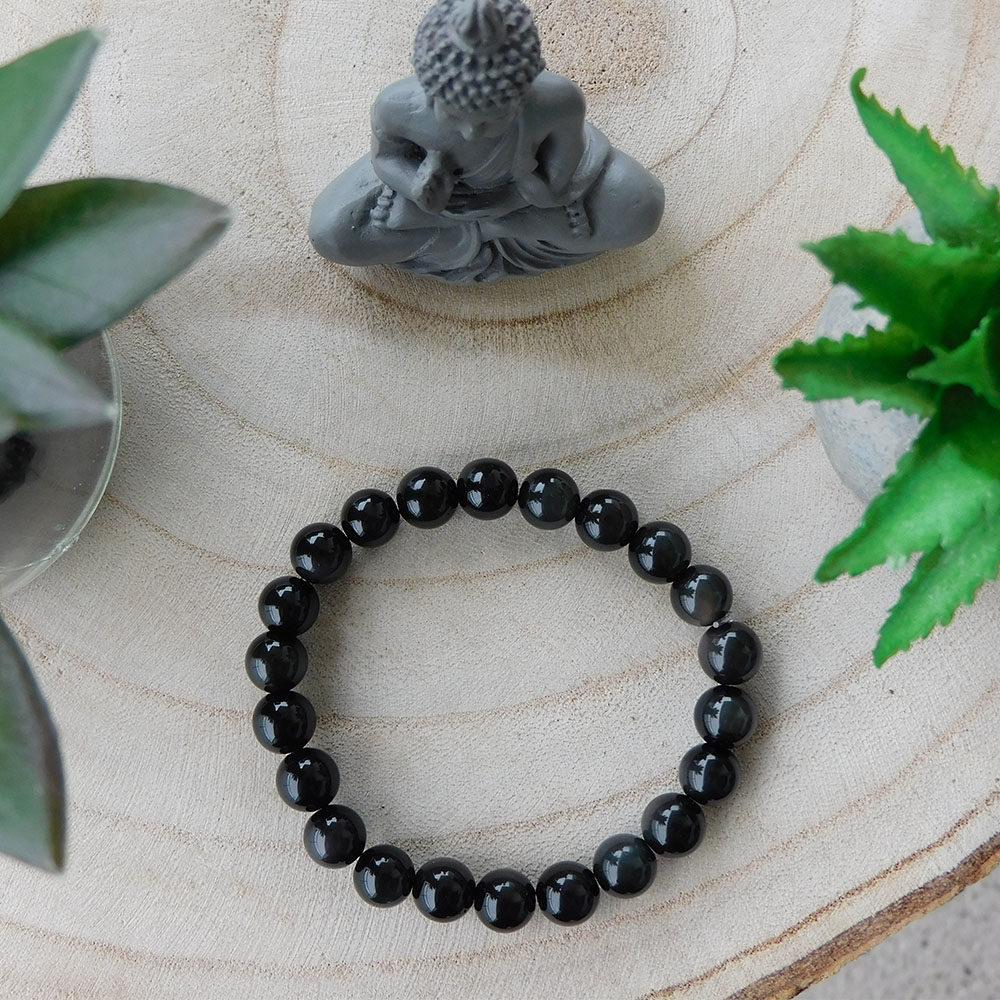 Bracelet Obsidienne 8mm