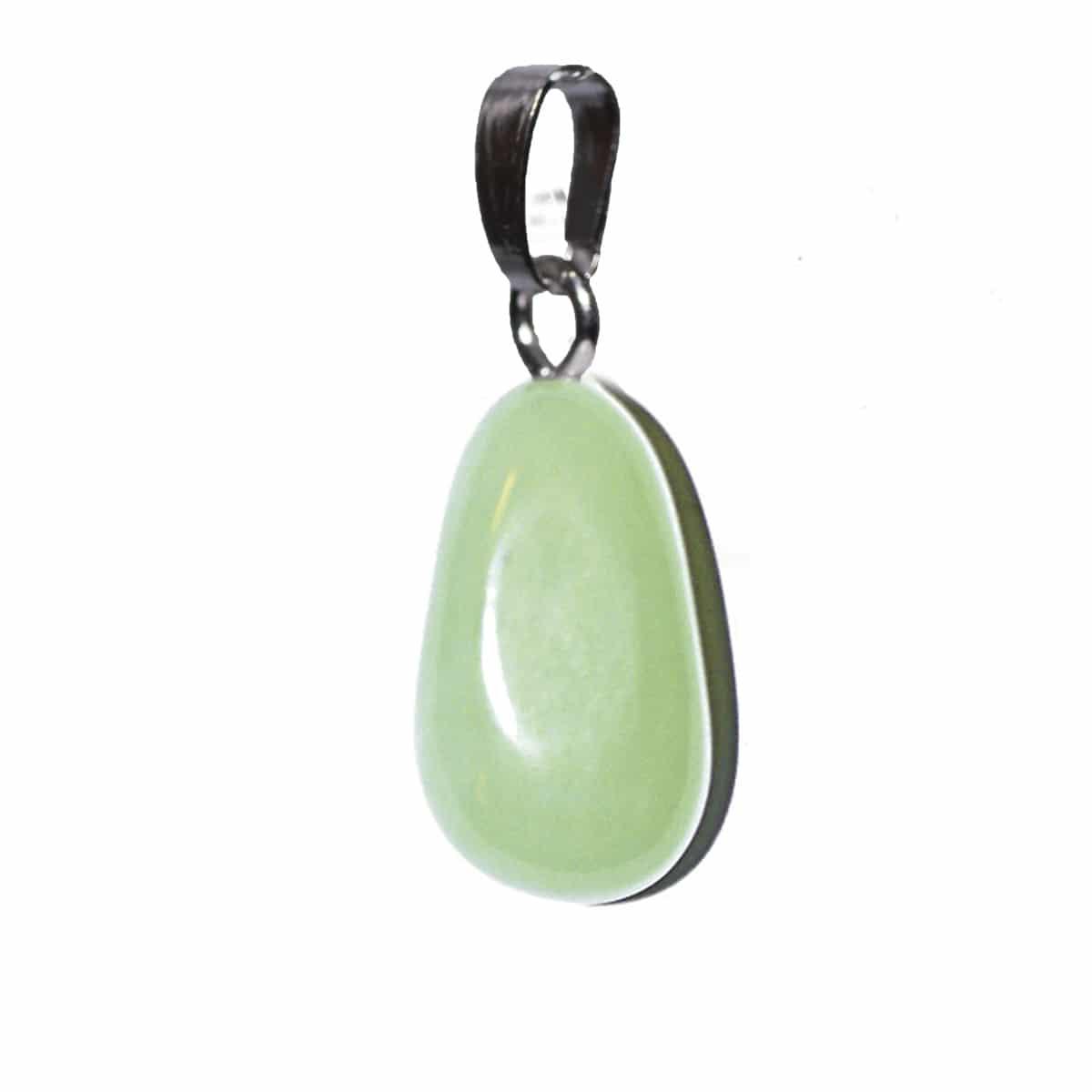 acheter en ligne f3941 c1105 Pendentif Jade pierre roulée