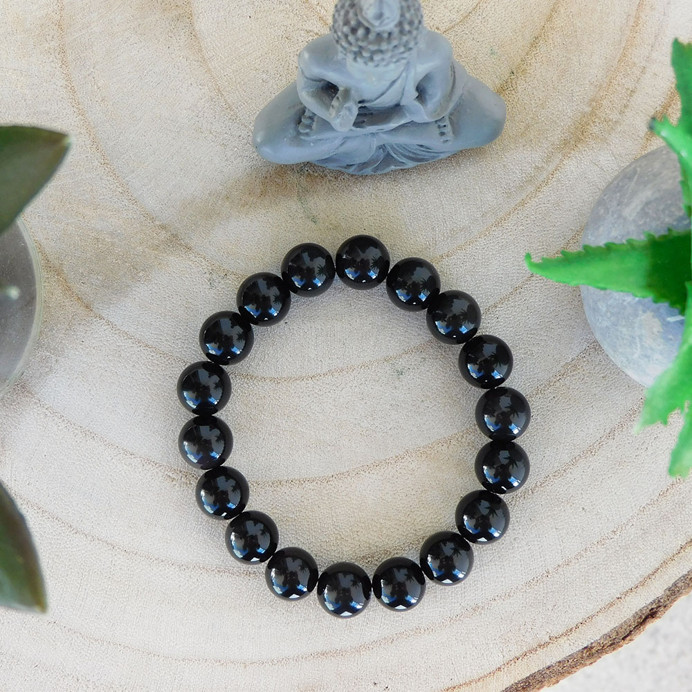 Bracelet Obsidienne 10mm