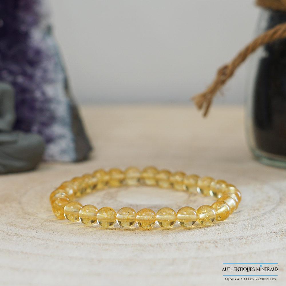 Bracelet citrine 6mm