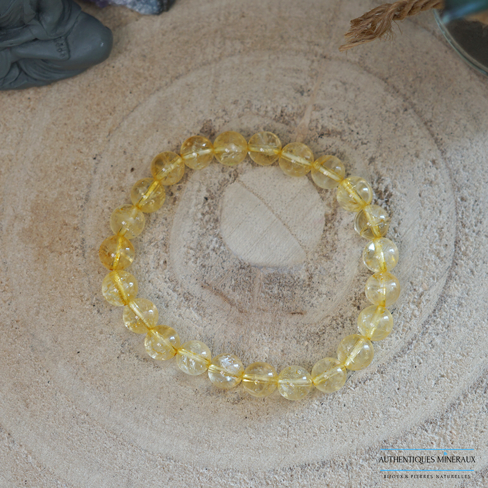 Bracelet citrine 8mm