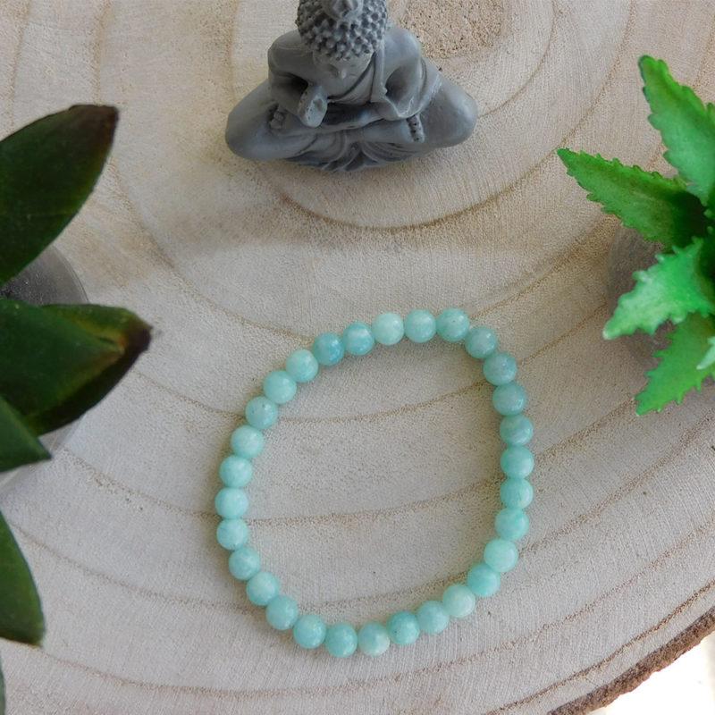 Bracelet Amazonite turquoise 6mm