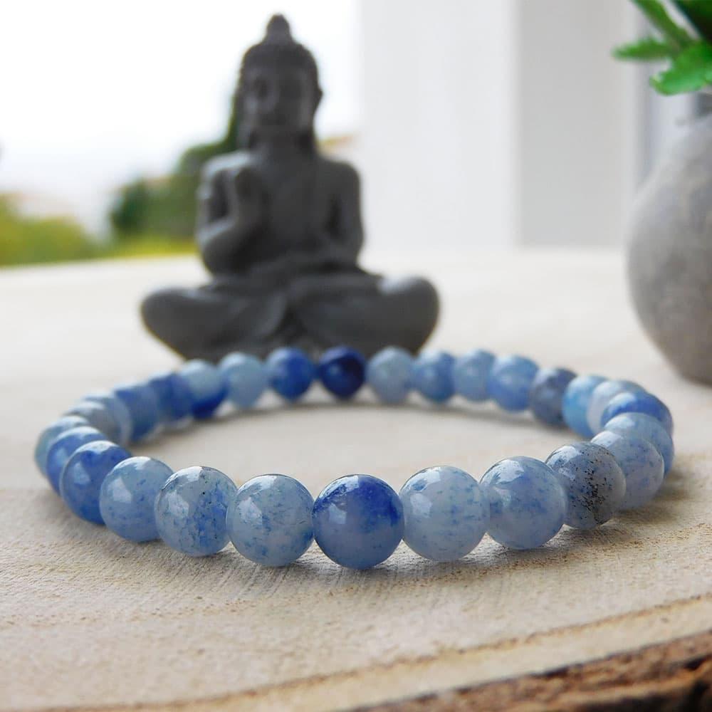 Bracelet Aventurine Bleue 6mm
