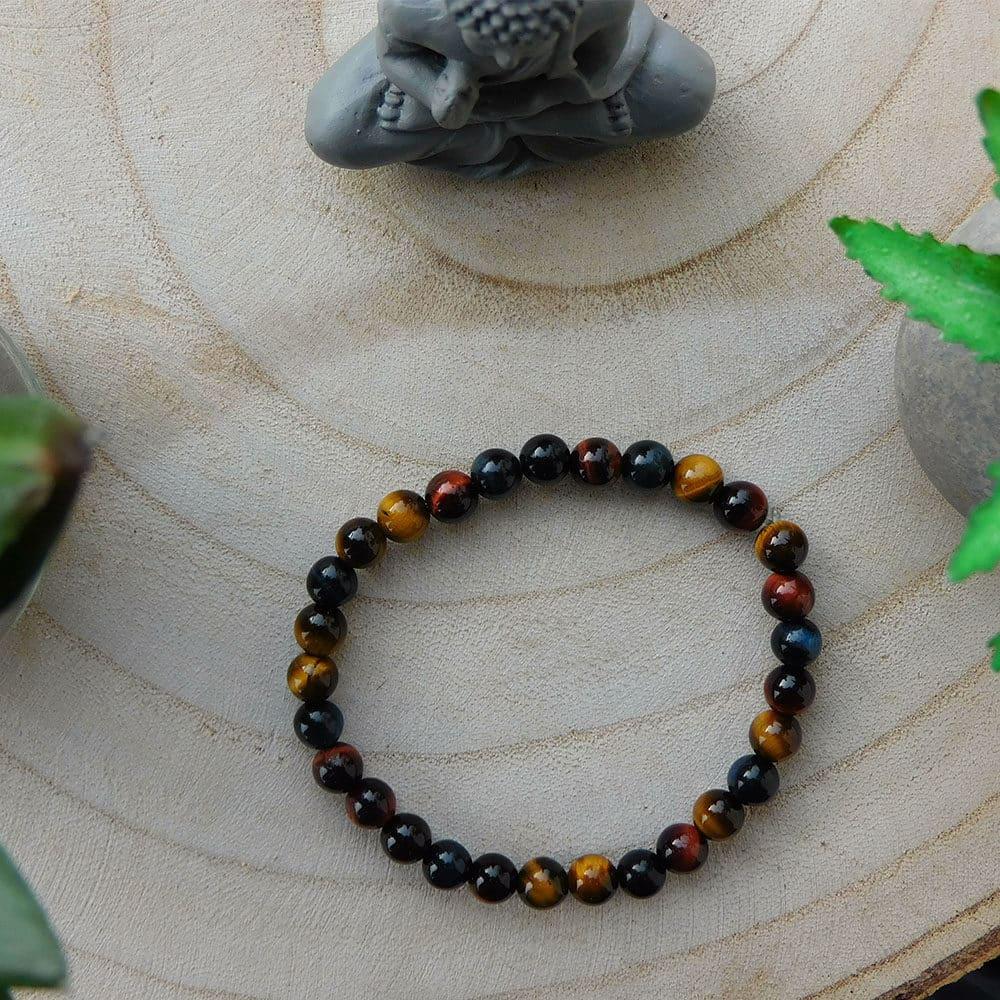 Bracelet Oeil de Tigre Multicolore 6mm