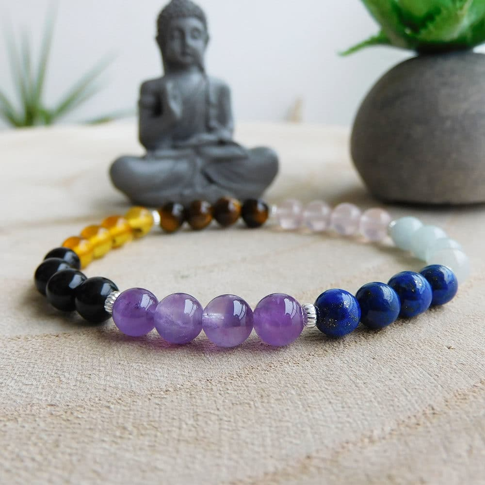 Bracelet 7 Chakras 6mm face