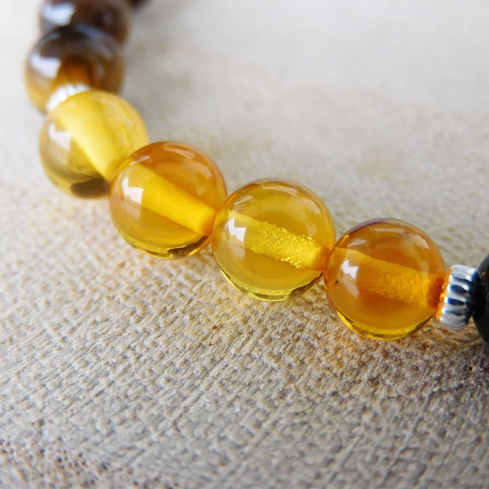 Bracelet 7 Chakras 6mm zoom ambre