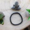 Bracelet Agate Noire 6mm