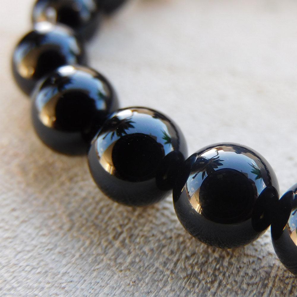 Bracelet Agate Noire 8mm
