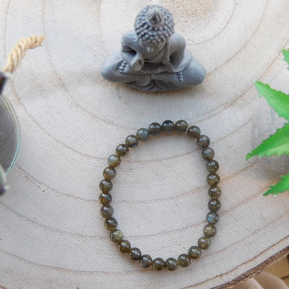 Bracelet Labradorite Foncee 6mm