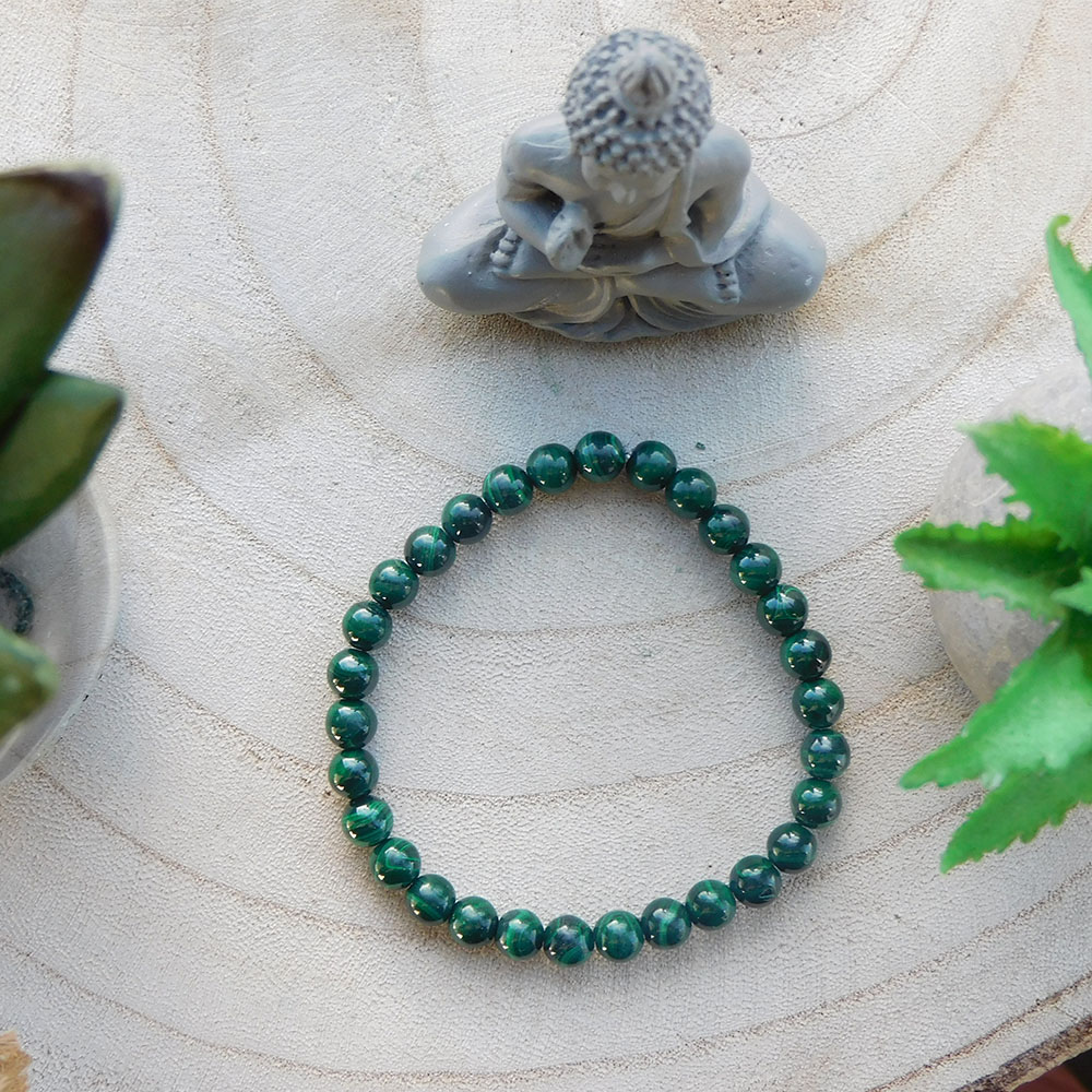 Bracelet Malachite 6mm