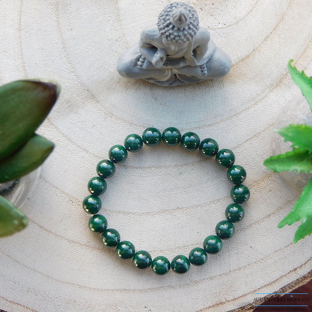 Bracelet Malachite 8mm haut