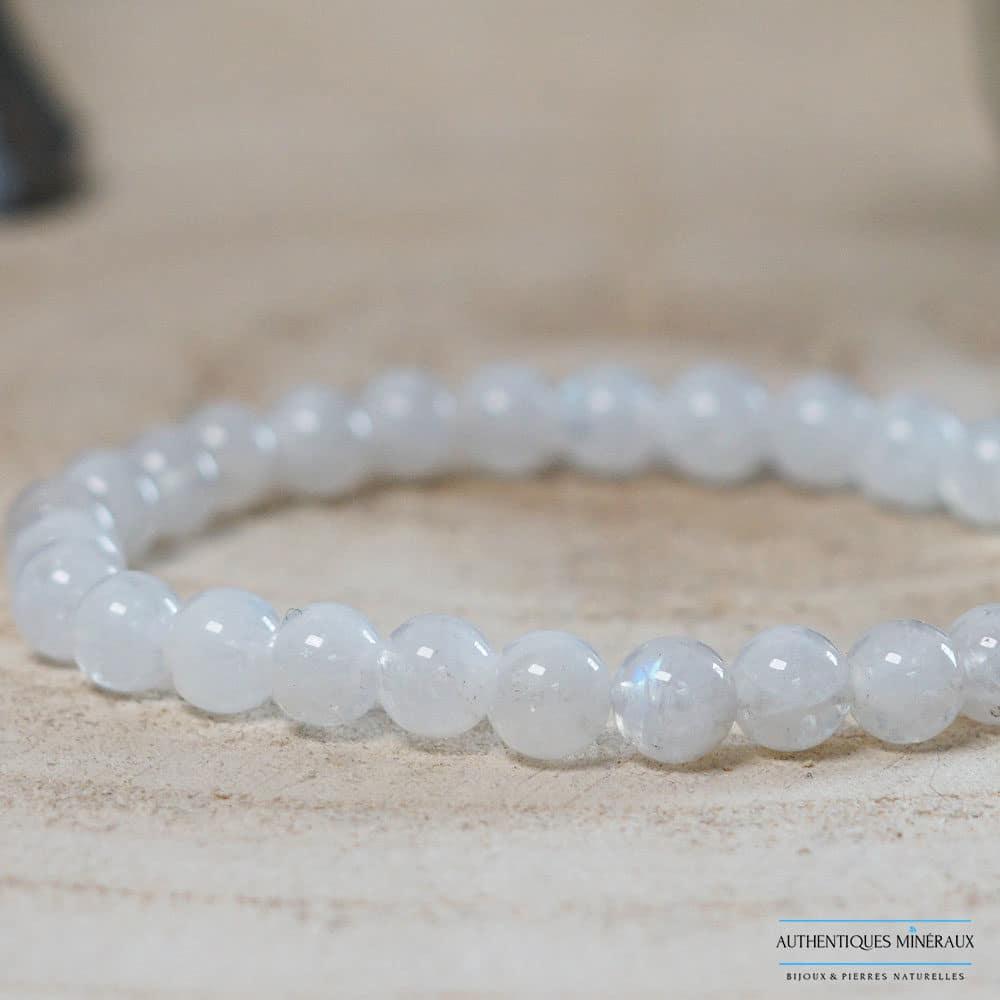 Bracelet pierre de lune 6mm -