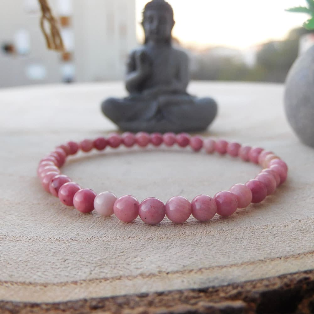 bracelet rhodonite 4mm