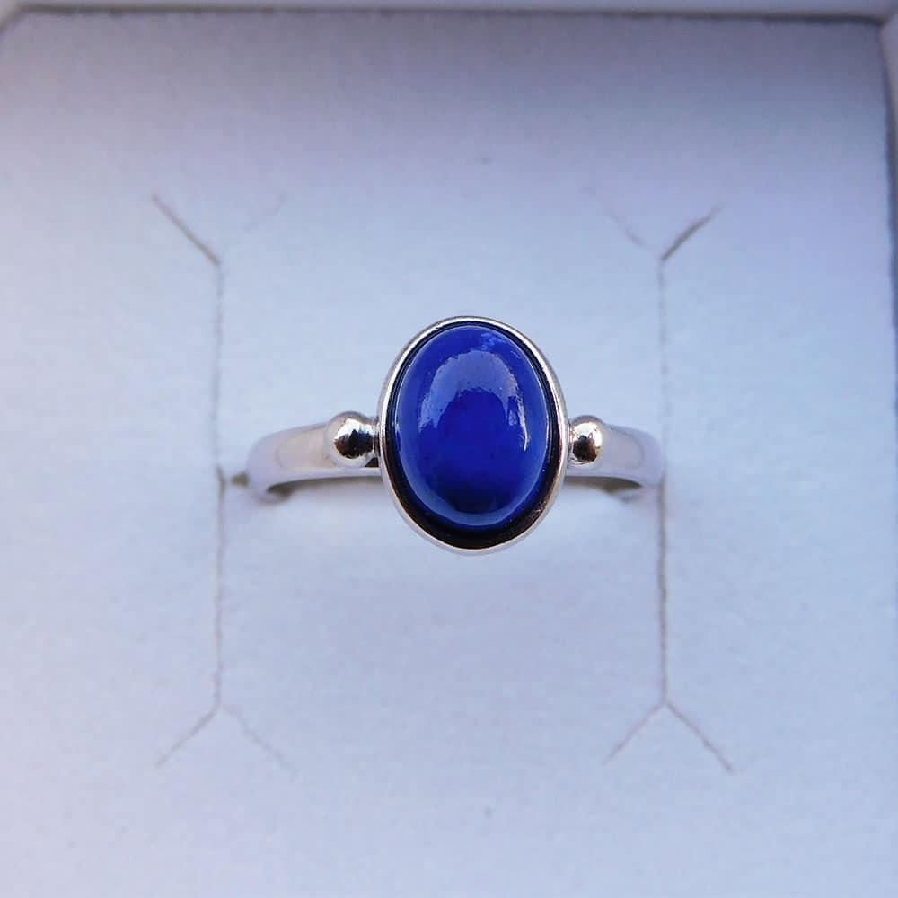 Bague Argent 925 Lapis Lazuli Alice haut