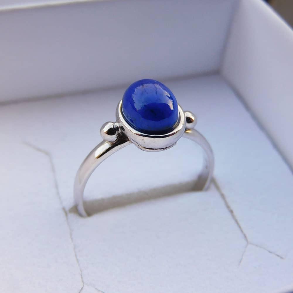 Bague Argent 925 Lapis Lazuli Alice