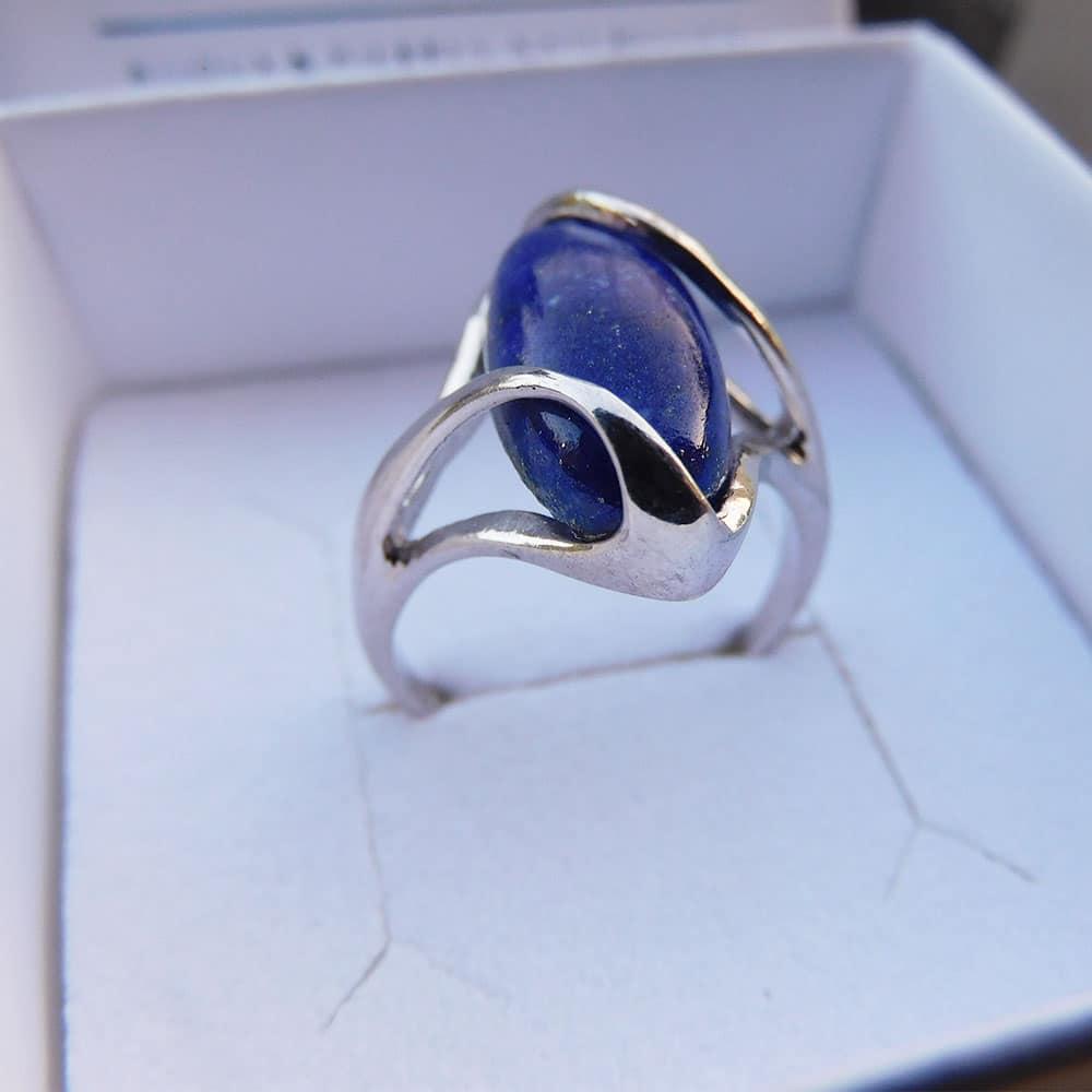 Bague Argent 925 Lapis Lazuli Mélèze