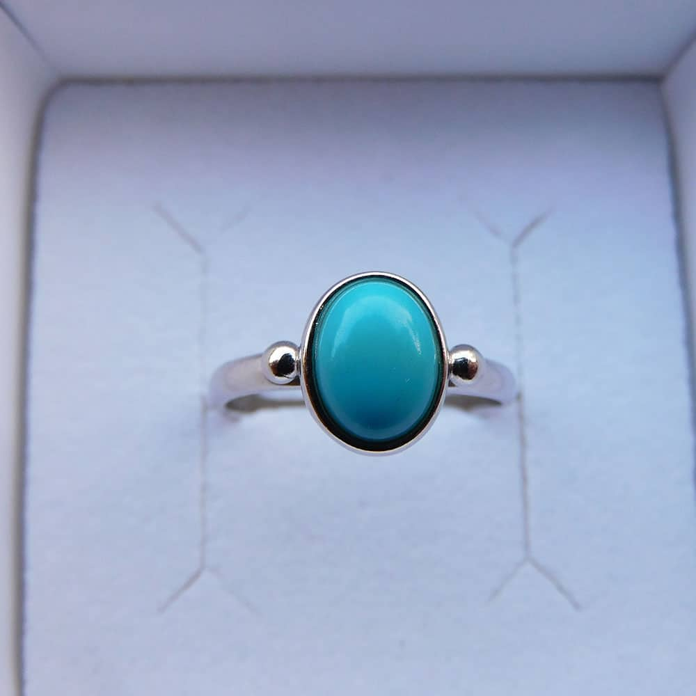 Bague Argent 925 Turquoise Alice