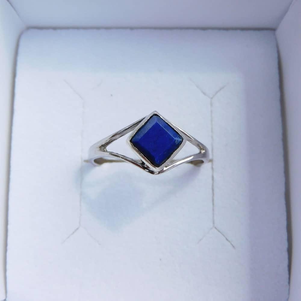 Bague argent 925 Lapis Lazuli Désire haut