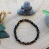 Bracelet Oeil de tigre + obsidienne 6mm