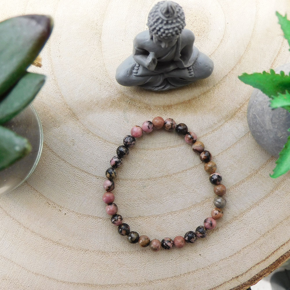 bracelet rhodonite foncée