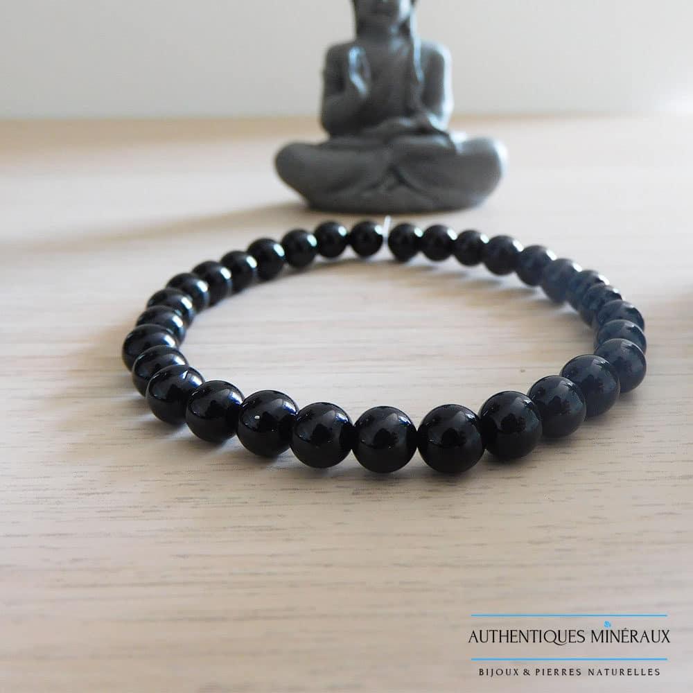 bracelet tourmaline noire 6mm