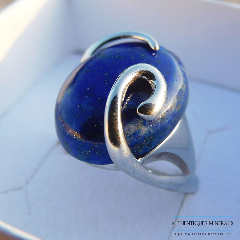 Bague Lapis Lazuli argent 925 Maya