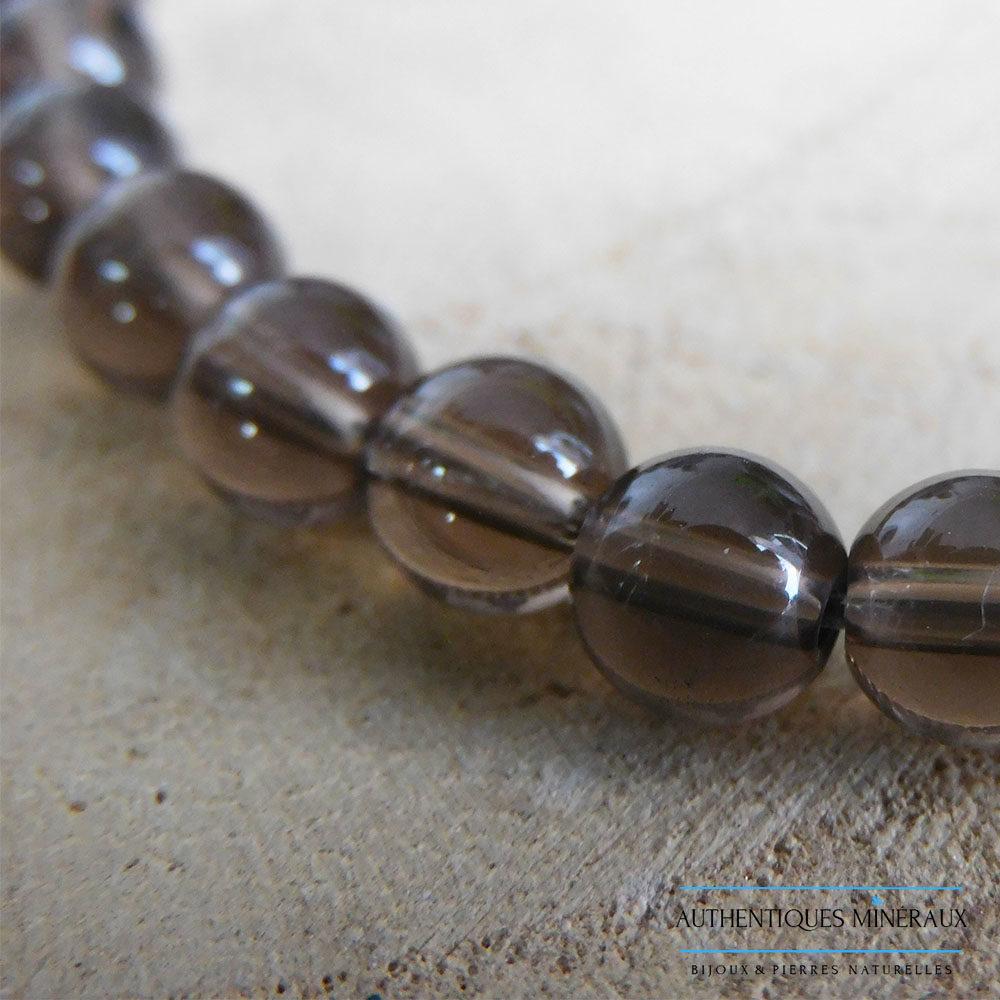 Bracelet Quartz Fumé 6mm