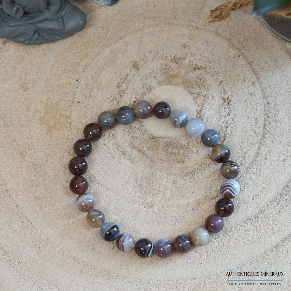 Bracelet 8mm agate du botswana