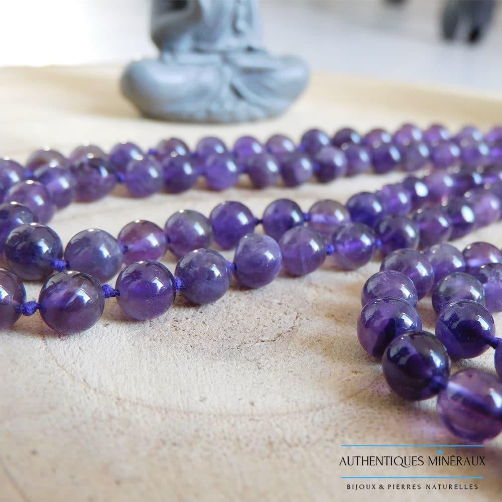 Mala Améthyste 108 perles 6mm