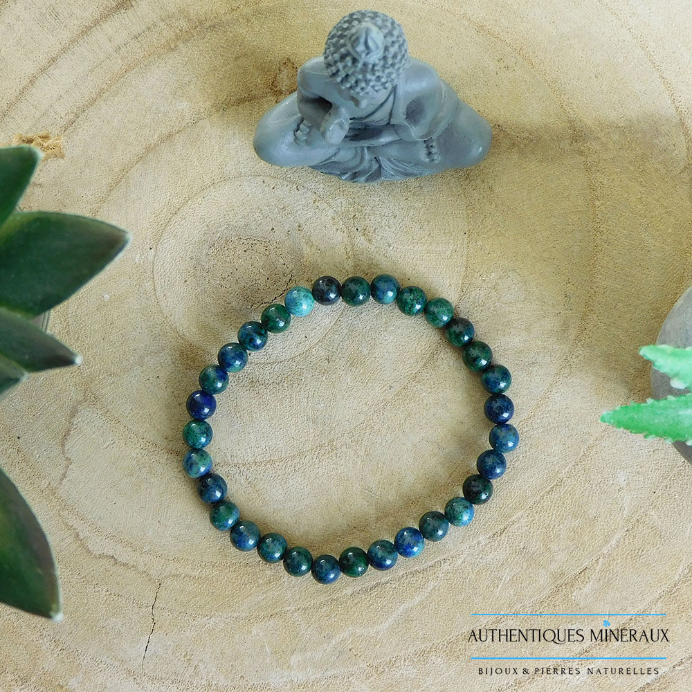 Bracelet Azurite Malachite 6mm