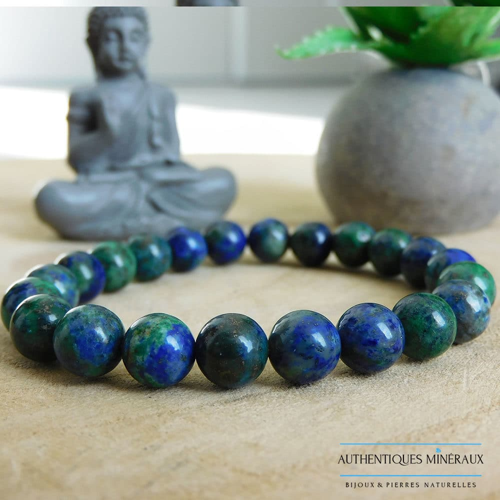 Bracelet Azurite Malachite 8mm