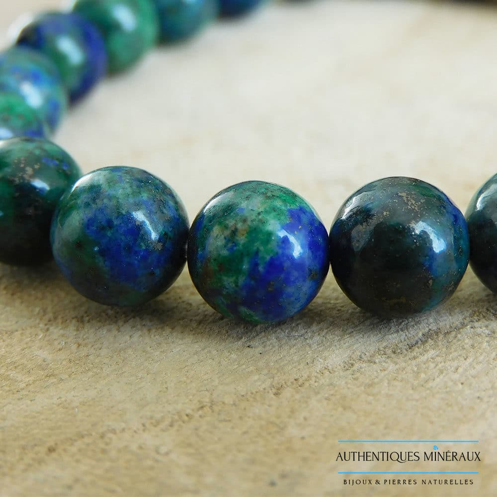 Bracelet Azurite Malachite 8mm