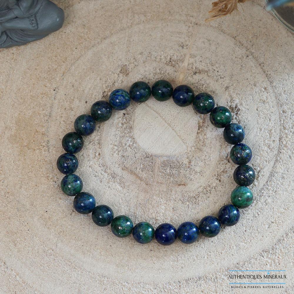 Bracelet azurite malachite 8mm -