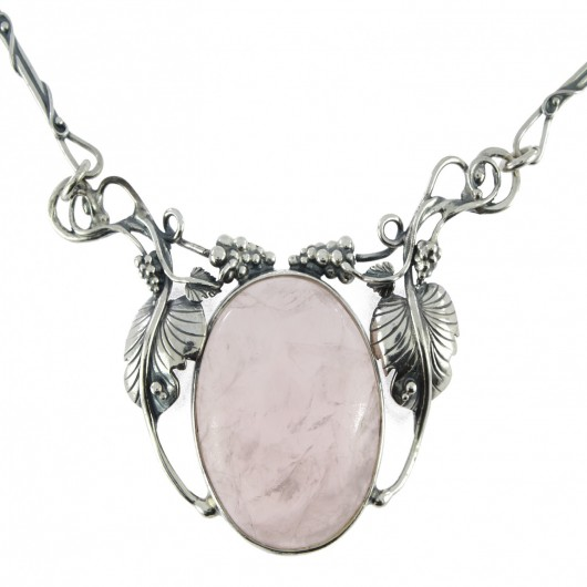 Collier quartz rose c-164