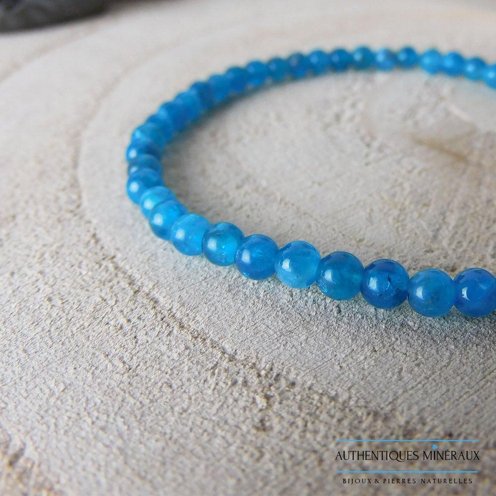 Bracelet Apatite 4mm