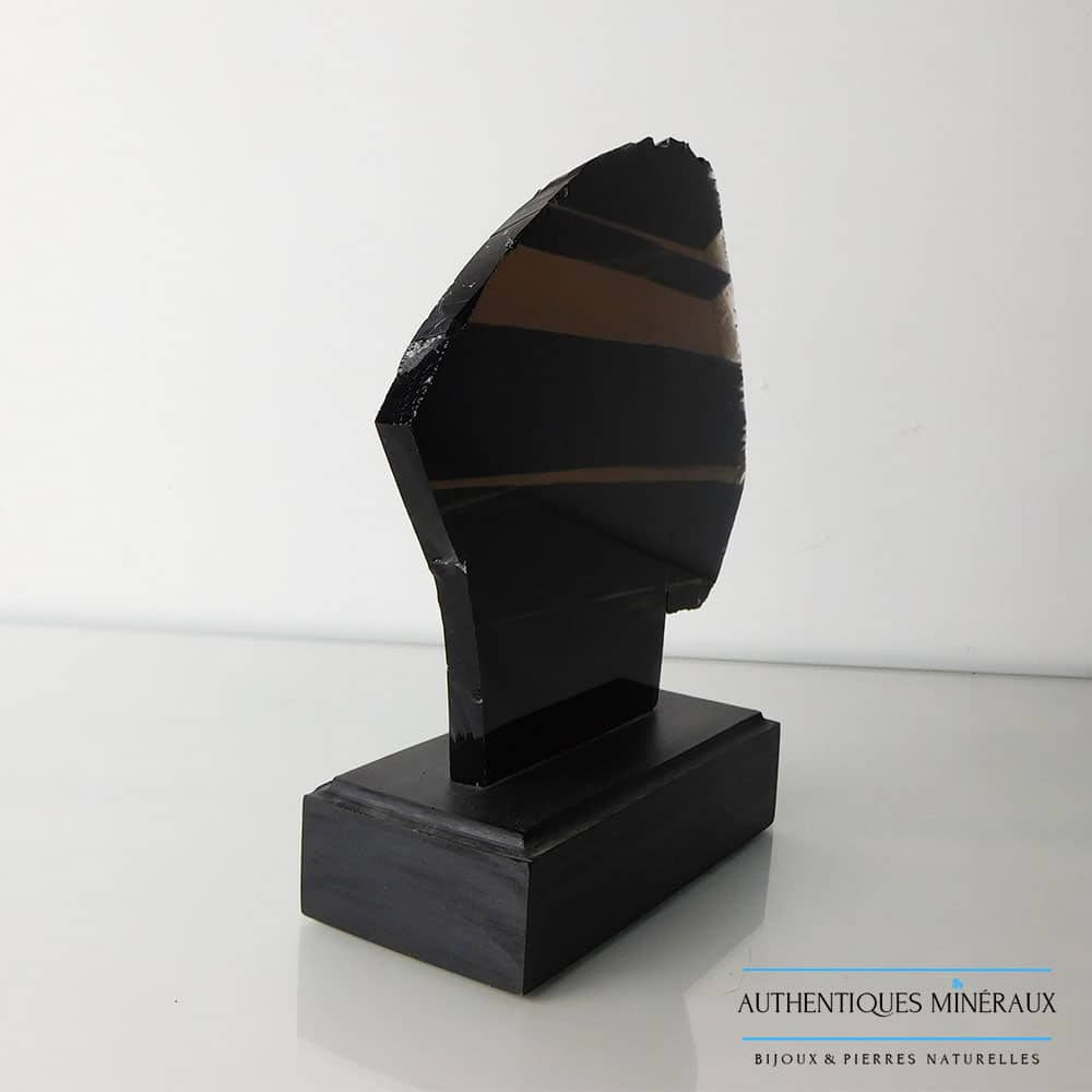 Obsidienne d'Arménie sur support