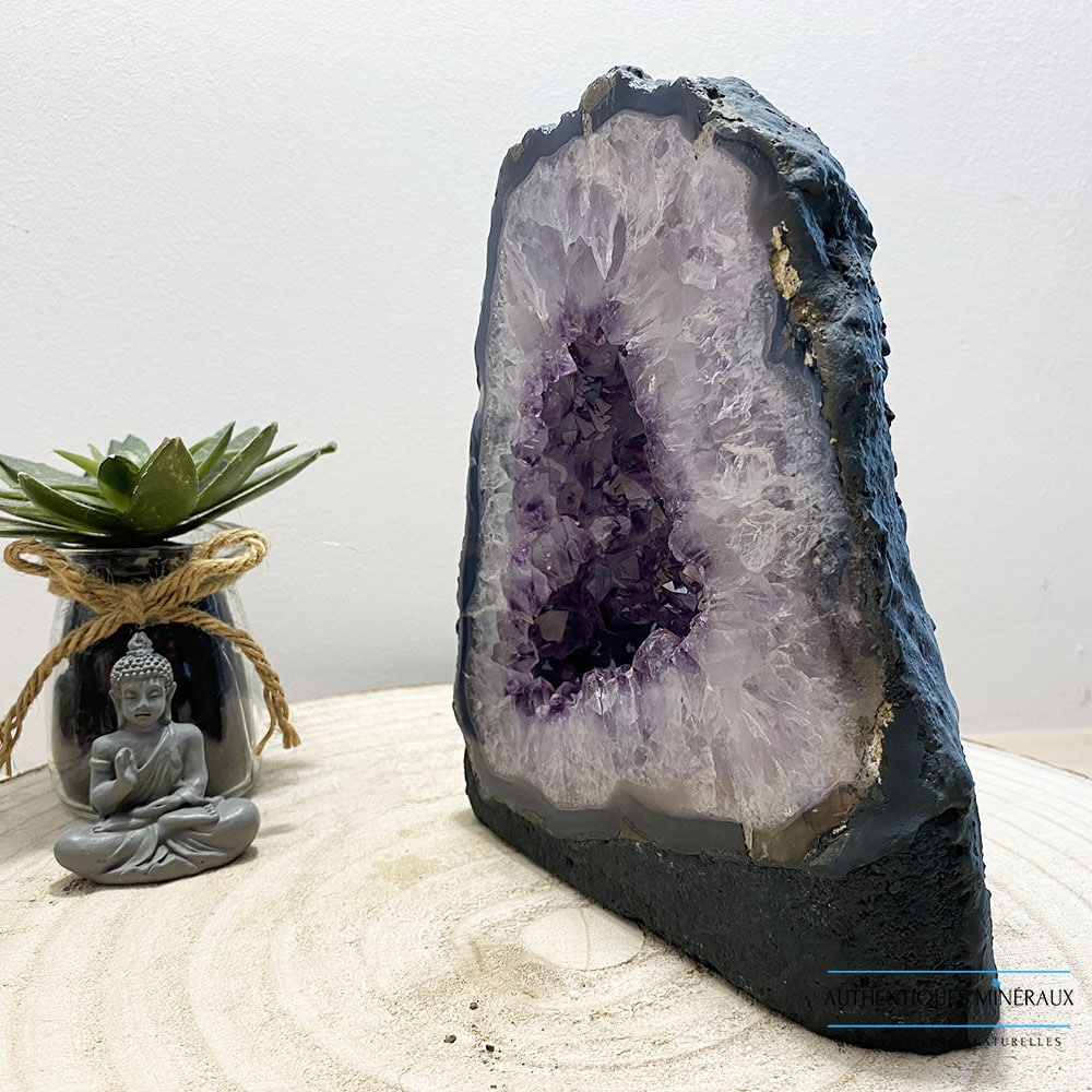Mini geode cathedrale améthyste